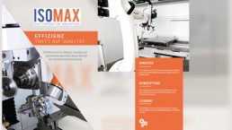 Grafikdesign isomax Broschüre