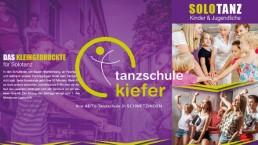 grafikdesign tanzschule broschüre
